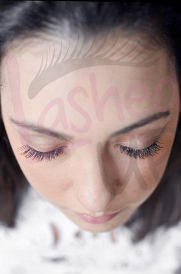 A full set of lash extensions
