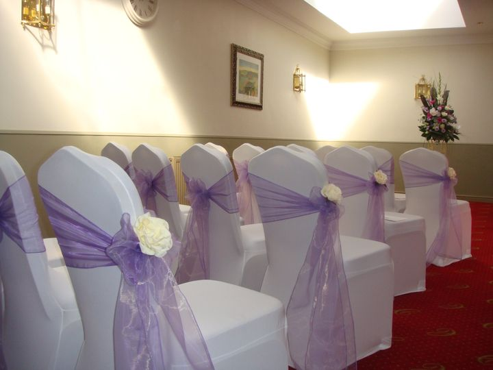Lilac Sash with Flower Accent