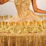 Gold Champagne Table.