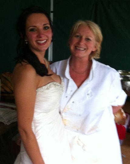 Happy bride with Karen