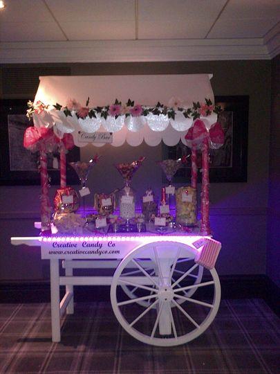 LED Lit Candy Cart
