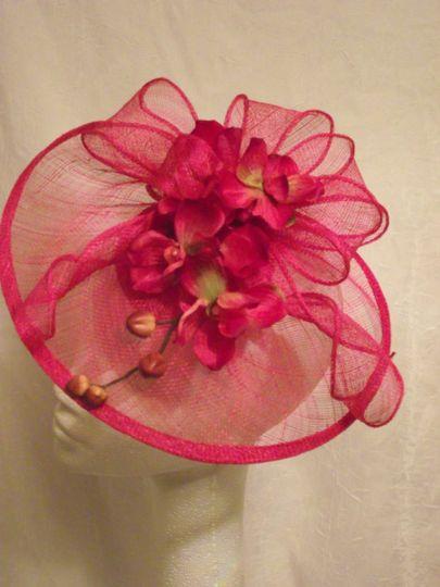 Design Sinamay saucer hat