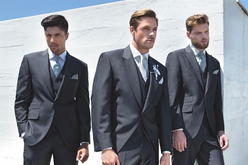 Charcoal Grey Suit & Tails