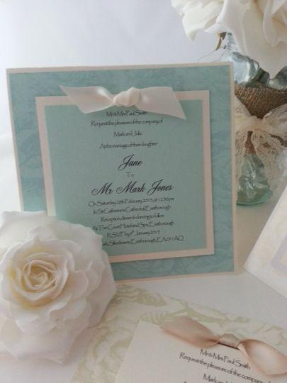 Tent fold wedding invite