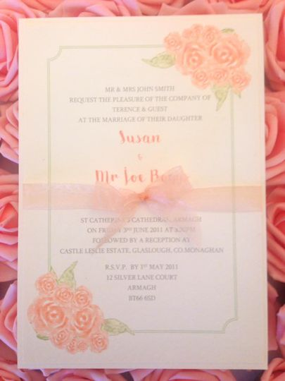 Floral watercolour invites