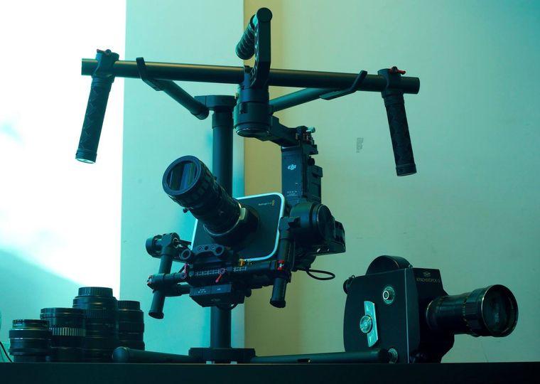Range of camera equipment