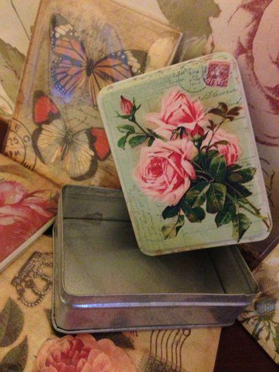Vintage Tin Favours Filled