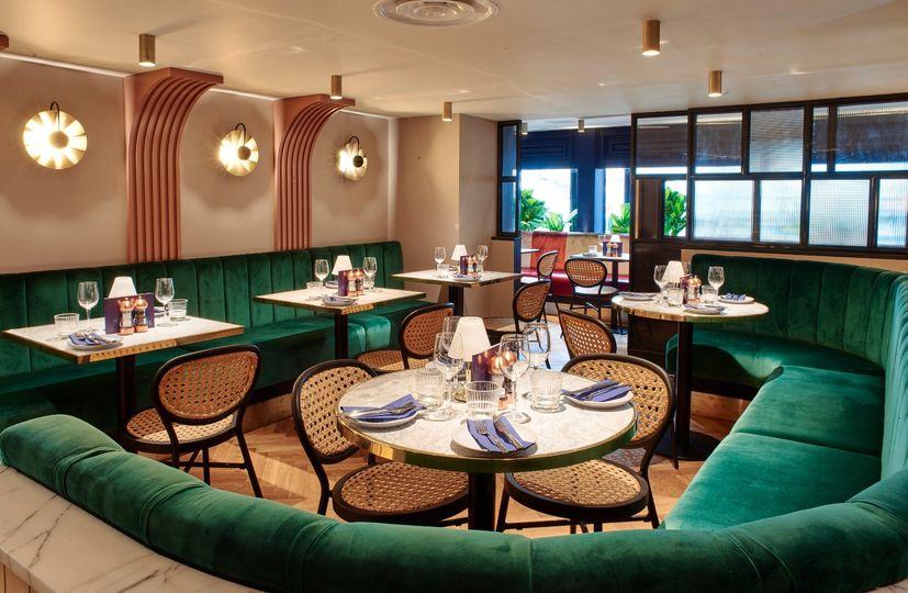 Mezzanine area for dining