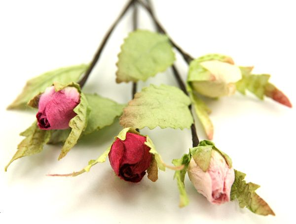 Paper Rosebuds From Paper Tree - Favours