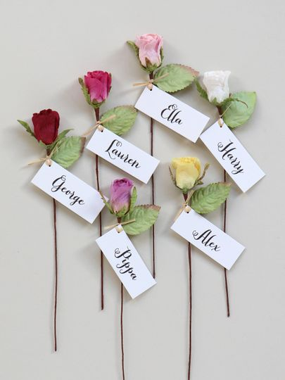 Paper Rose Favours