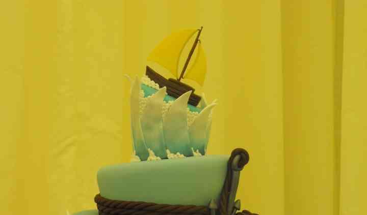 Sailboat Wedding Cake