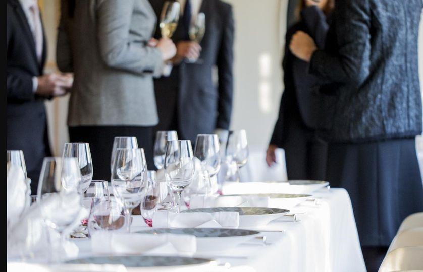 Champagne & Canapé Reception
