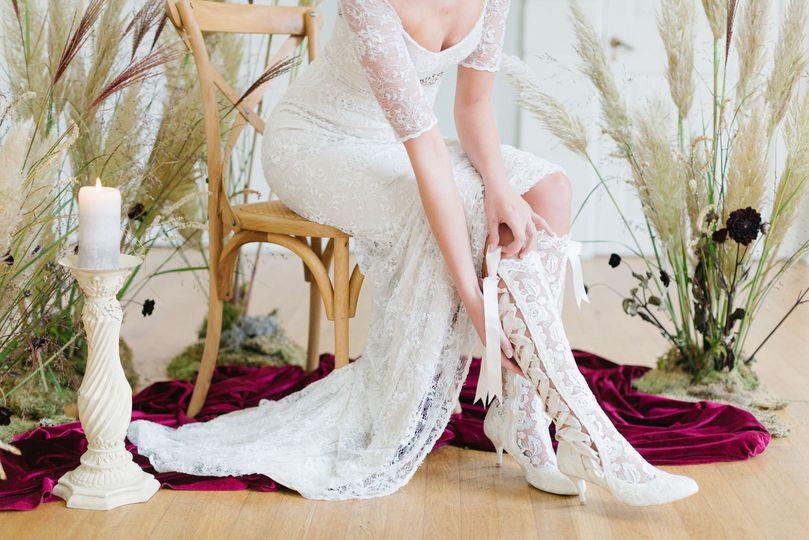 'Evangeline Elliot' lace boots