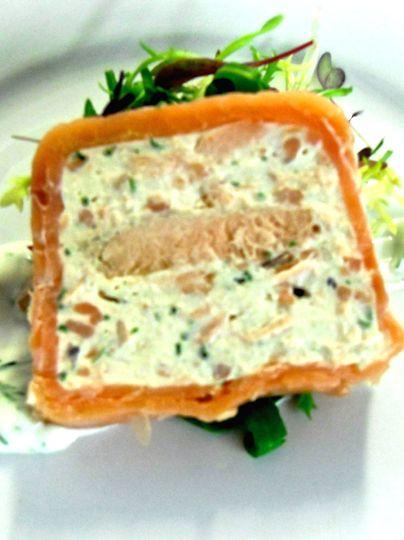 Prawn and salmon terrine