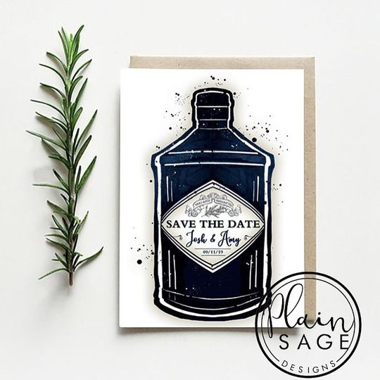 Gin Save the Date