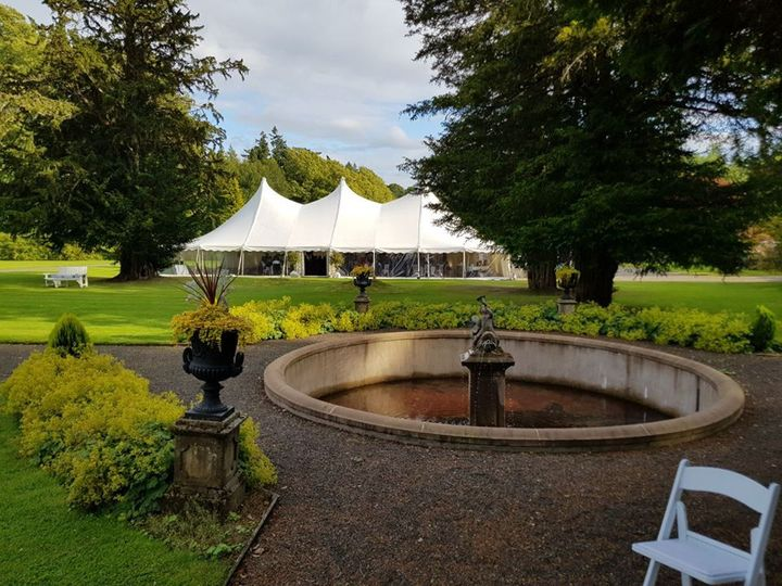 Castle marquee weddings