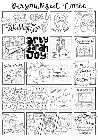 Bespoke wedding comic