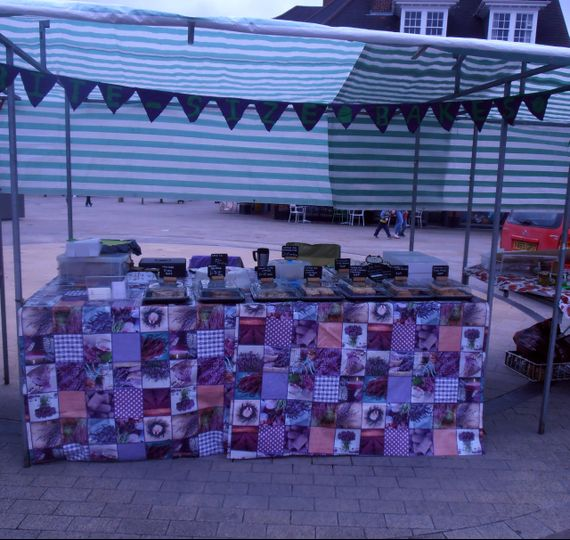 Our stall Lectchworth Market