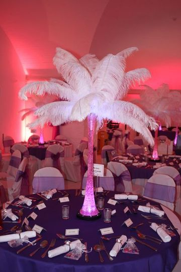 Ostrich feather centrepiece Devon