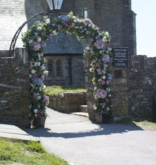 Wedding arch Devon