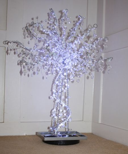 Crystal wedding trees to hire Devon