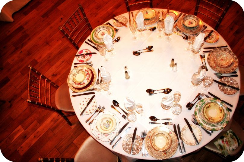Fancy Vintage China Wedding Table