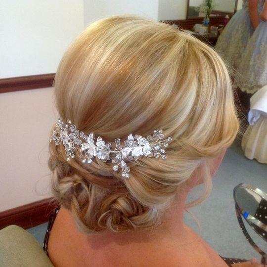 Beautiful bridal hairstyling