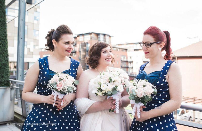 Retro wedding styling