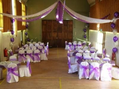 The Hall Decorated for a Wedding