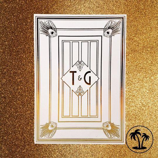 Luxurious Art Deco & gold foil