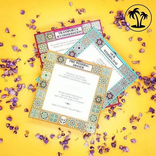 Colourful invitation inserts