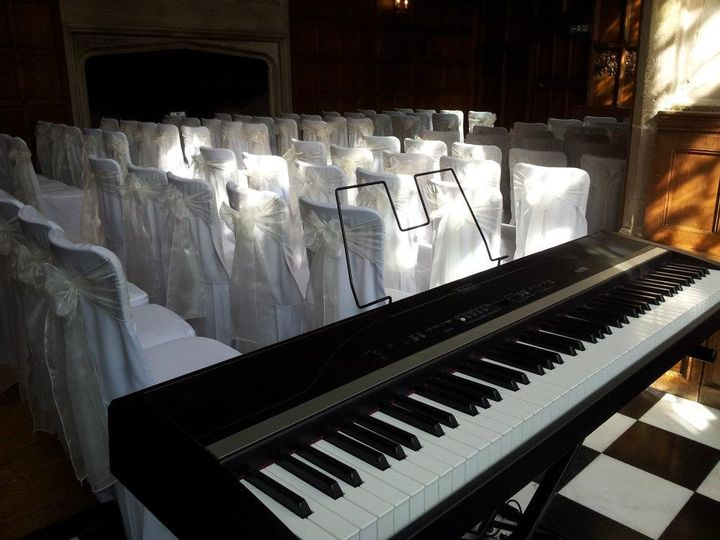 Pianist in banquet hall