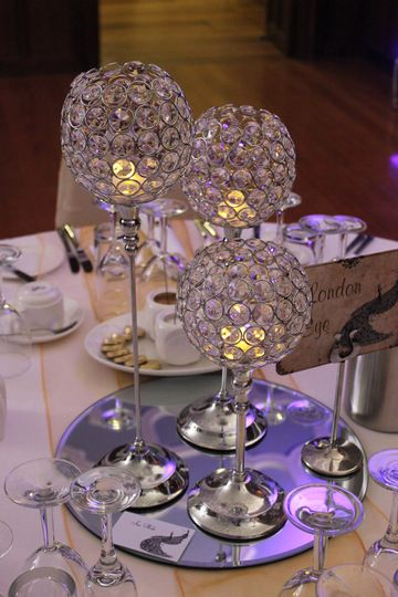 Crystal globe arrangement