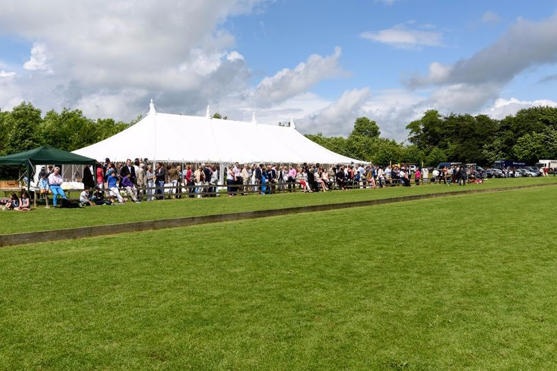 Marquee from polo pitch