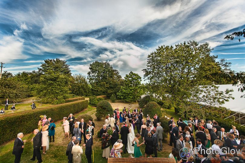 Reception in the orchard