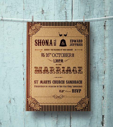 Shabby chiq invitation