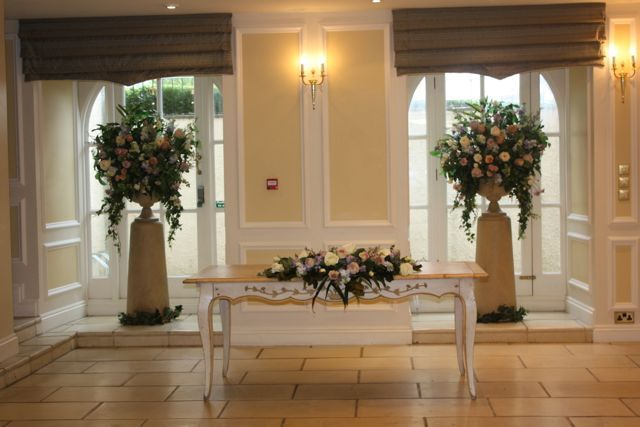 Large pedestal and top table flowers