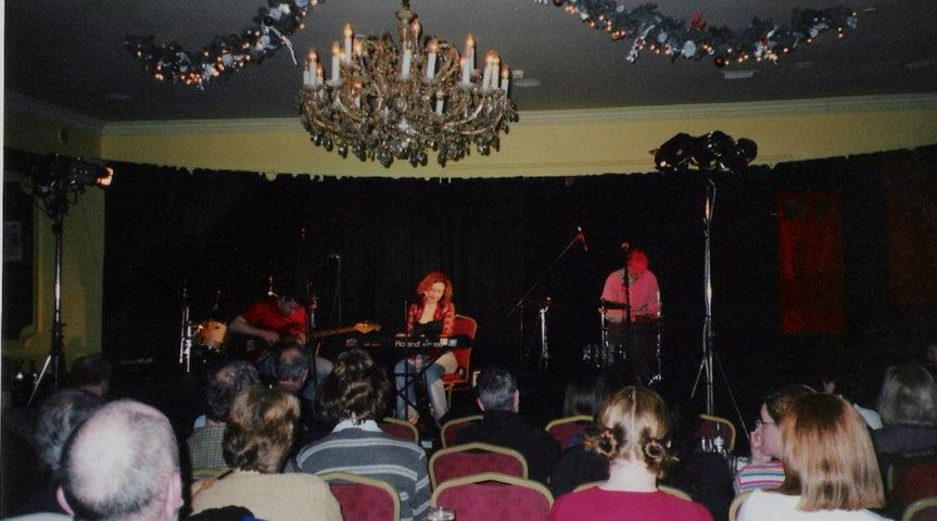 Performing at the Red Hot Music Club