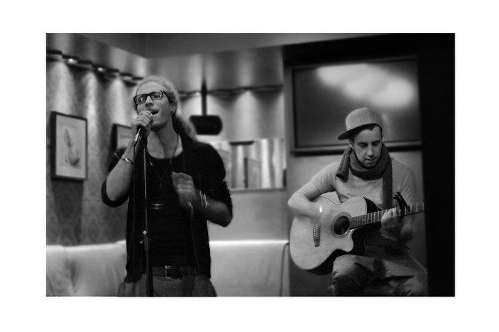 Danny and Matt performing