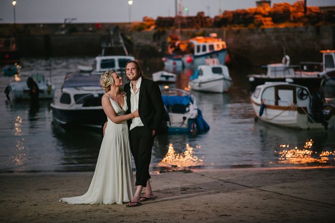 Newquay Harbour wedding