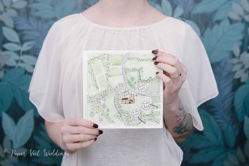 Illustrated Map Card