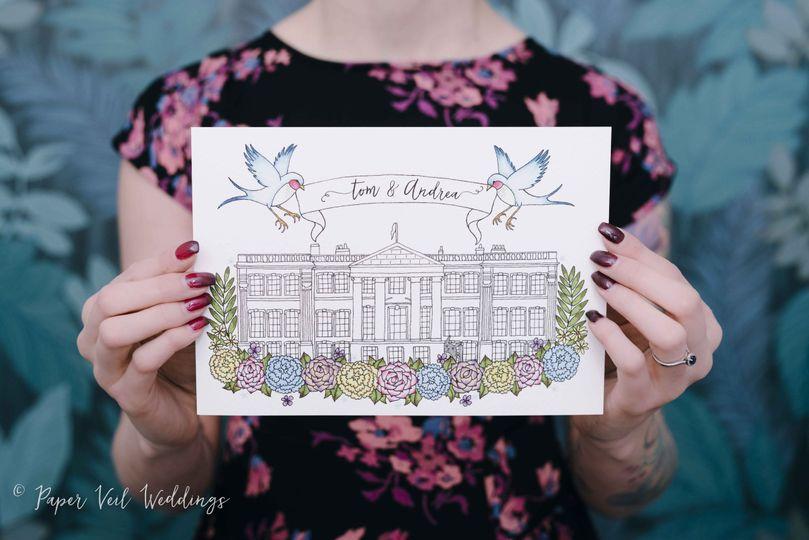Venue Illustration Invitation