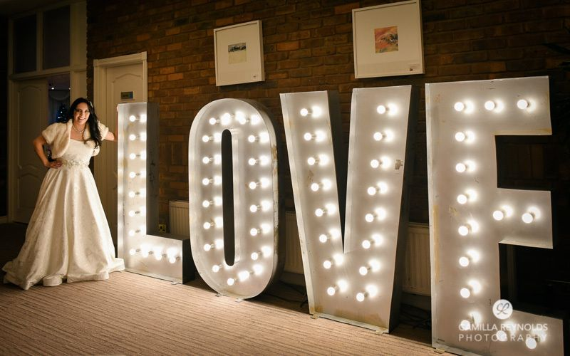 5ft tall LED LOVE letters