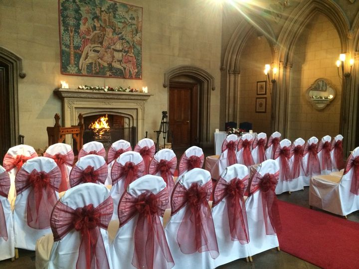 Wine sashes at Matfen Hall