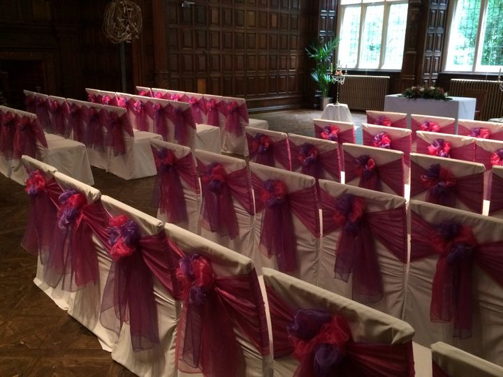 Pink and purple double sashes