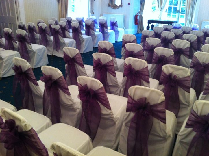 Two tone plum sashes