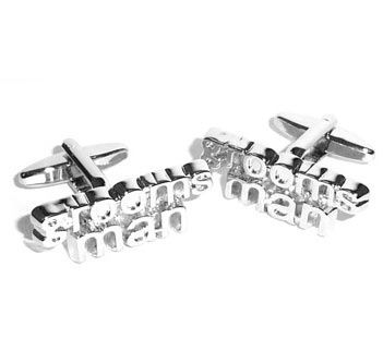 Cut Out Word Wedding Cufflinks