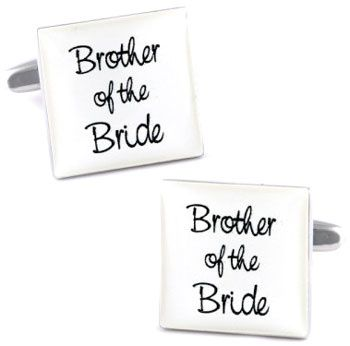 White Square Wedding Cufflinks
