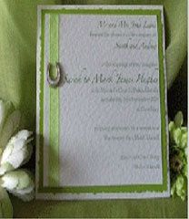 Lime horseshoe invite