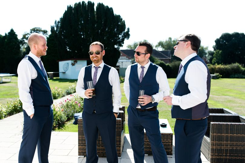 Groom and wedding party